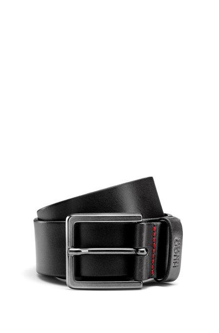 Hugo Boss Gionio Leather Casual Belt - Black