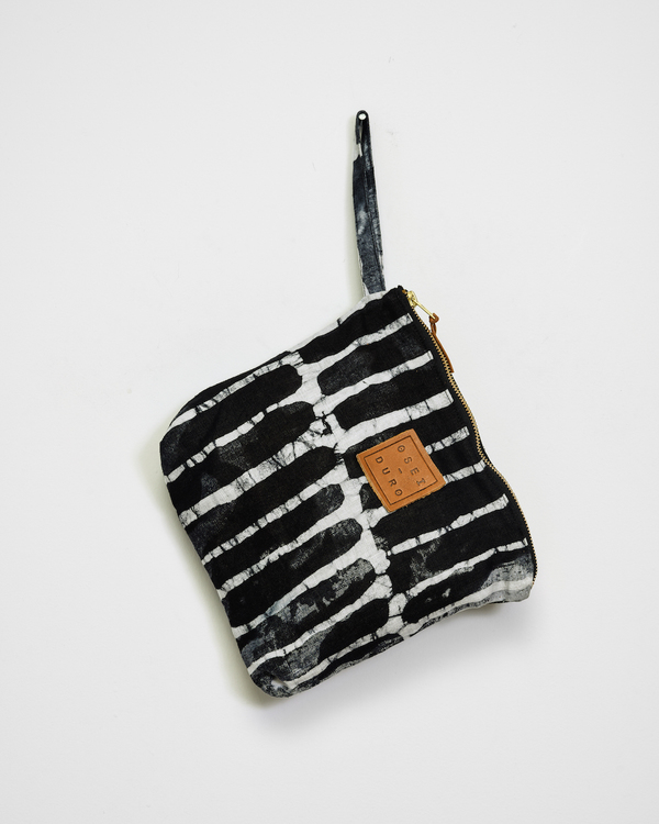 Osei-Duro Stibio Pouch in Black Chalk