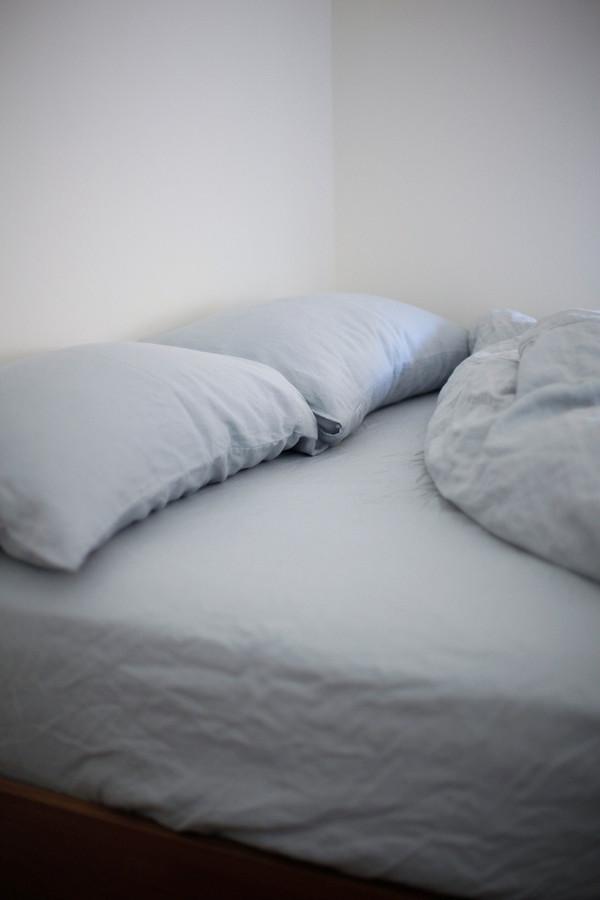 GOOD STUDIOS SLEEP GOOD HEMP LINEN TOP SHEET