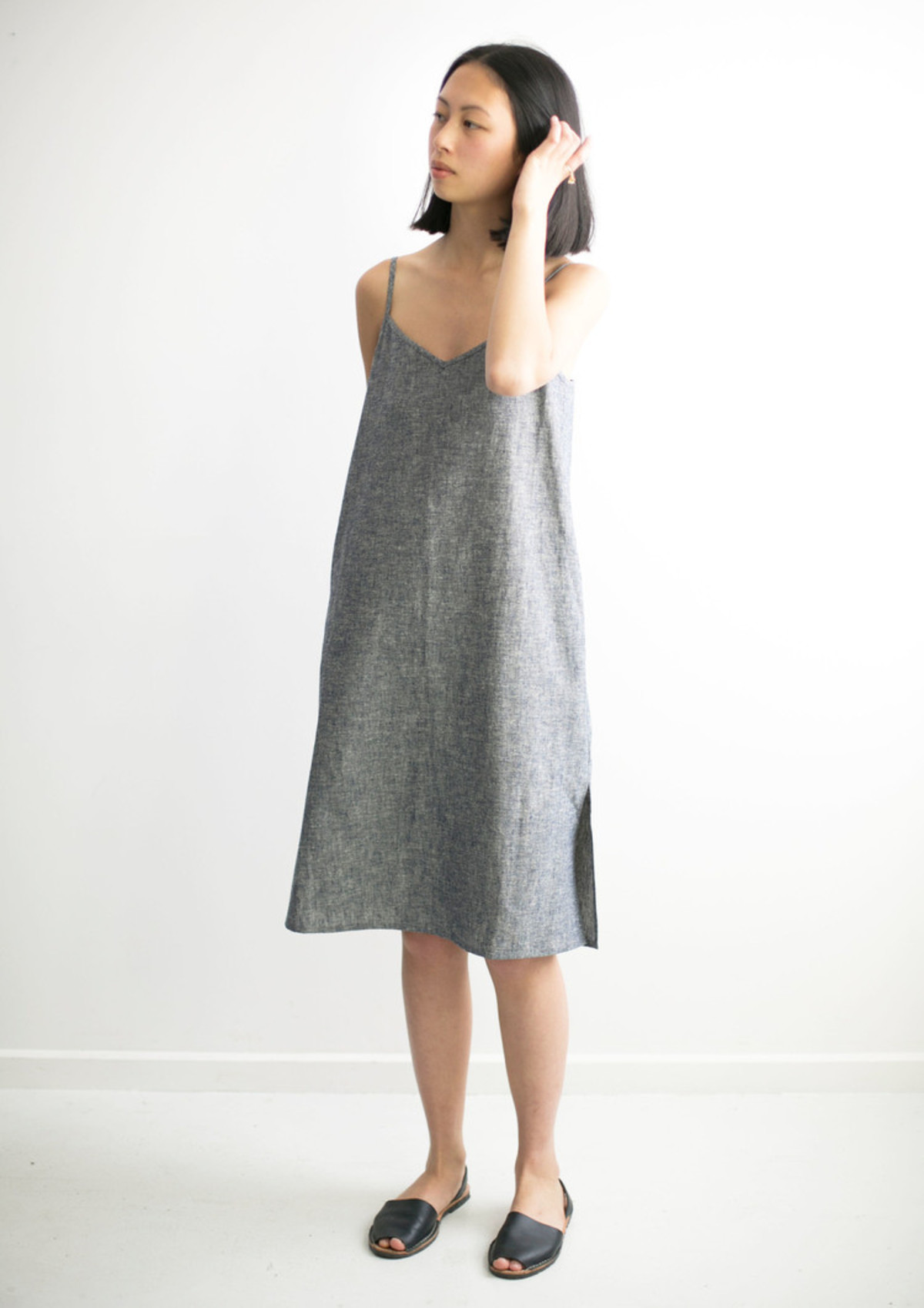 good studios hemp linen slip dress | garmentory