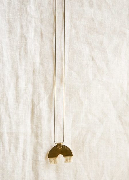 Tiro Tiro Iridis Necklace - Brass/Sterling Silver