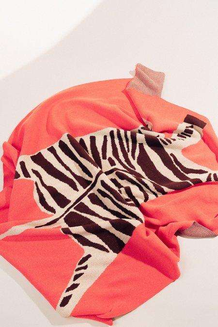 Cold Picnic Zebra Knit Blanket