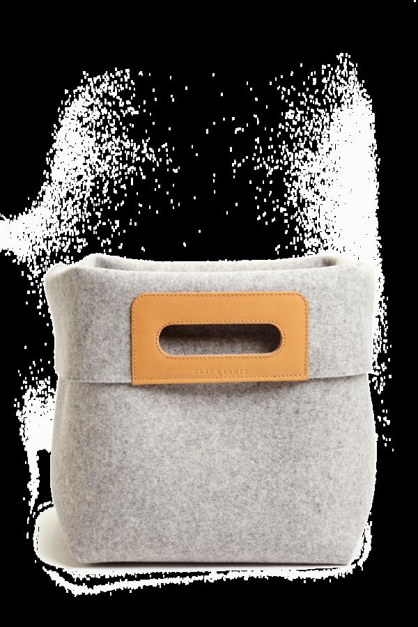 KORB Granite Wool Felt Basket