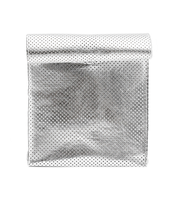 SMK Foldover Bag in Perforated Silver