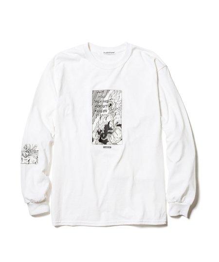 Flagstuff Super Saiyans Long Sleeve Tee - White