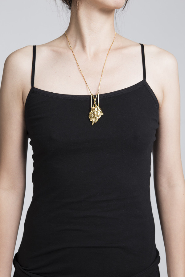 Ladyluna Bark Arrow Necklace