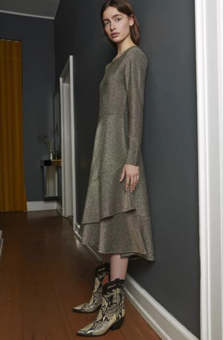 Just Female Clea Dress - Black/Gold
