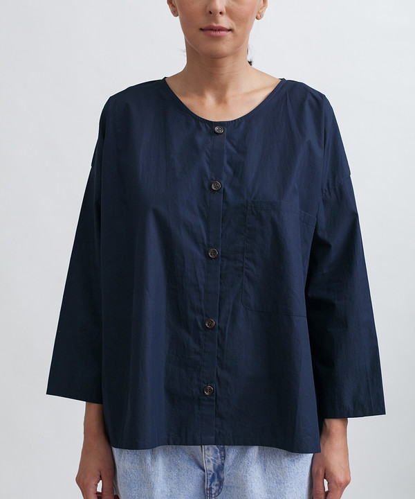 Revisited Matters Cotton Workshirt in Navy