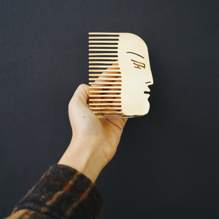 curated by. Face Comb - Gold