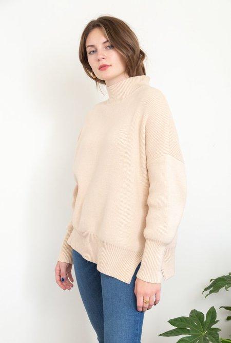 Azalea Rhea Mock Neck Sweater - Beige