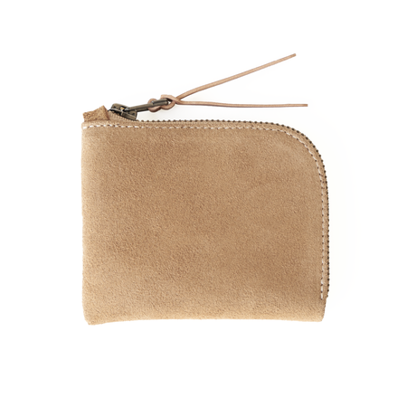 MAKR Zip Luxe  Horween® Suede Wallet - Khaki