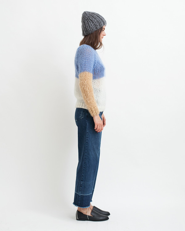 Maiami Mohair Colorblock Sweater