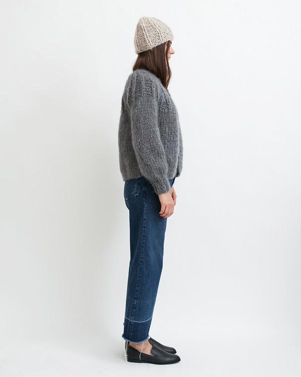 Maiami Mohair Pleated Short Cardigan