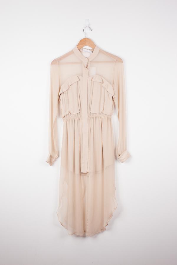 Shakuhachi Angle Pocket Overlay Dress