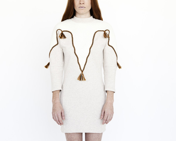 Nanushka Numa Applique Sweater Dress