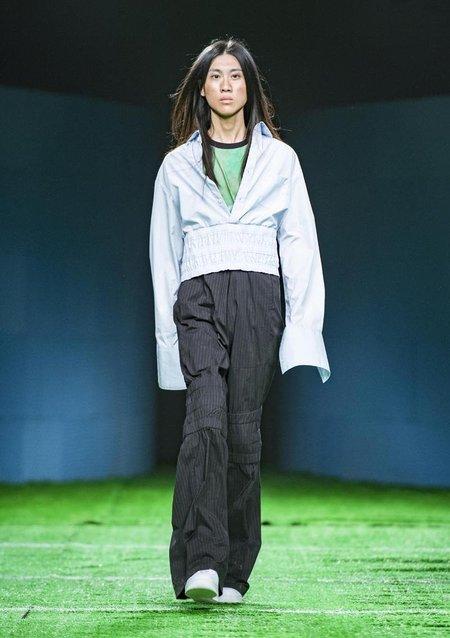 Unisex DANSHAN Flared Trousers - PINSTRIPE
