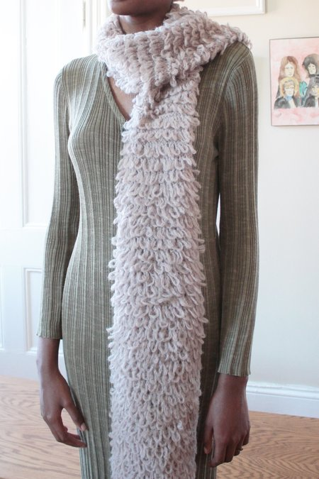 Colorant ELECTRA KNIT SCARF - DUST