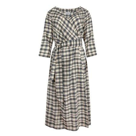 Wray Wrap Dress - Grey Check