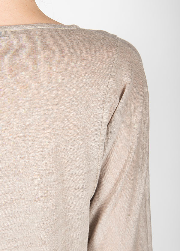 Objects Without Meaning - Edie 3/4 Tee in Warm Grey