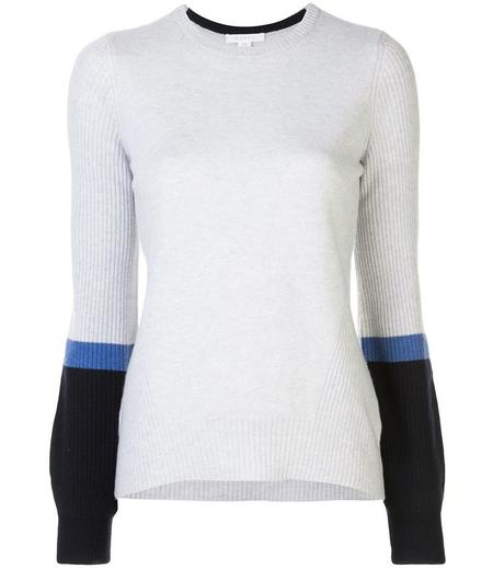 Duffy Bell Sleeve Sweater - Mist/Navy