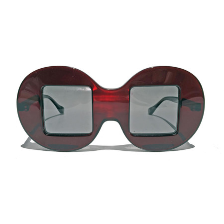Slow and Steady Wins the Race Circle Frame Square Lens in Red