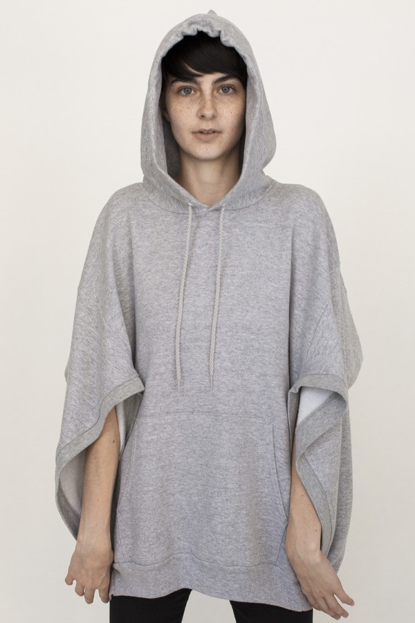 Hooded Cape in Grey