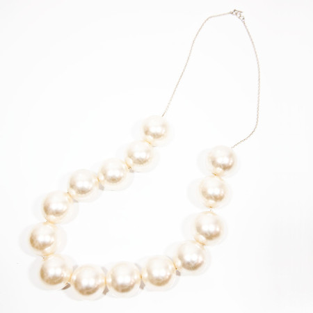 Slow and Steady Wins the Race Jumbo Pearl Necklace