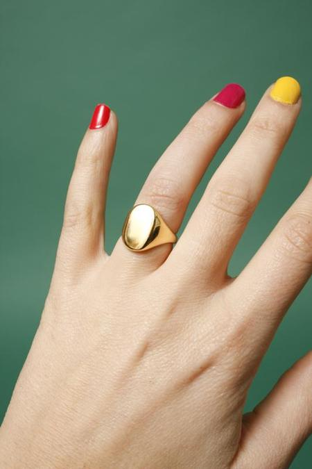 Merewif Eliot Signet Ring - Gold Plated