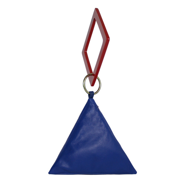 Pyramid Bag with Geometric Handle
