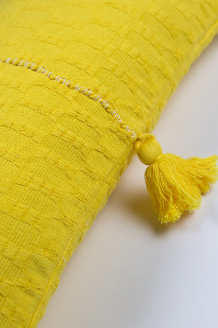 Archive New York Antigua Pillow - Bright Yellow Solid