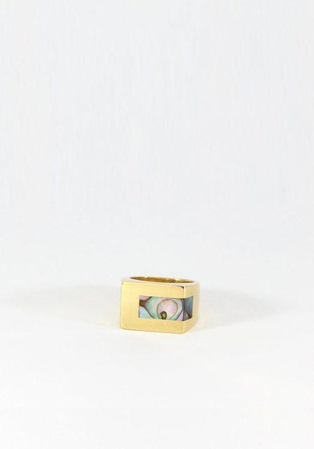 Legier Stone Strip Signet Ring - Abalone