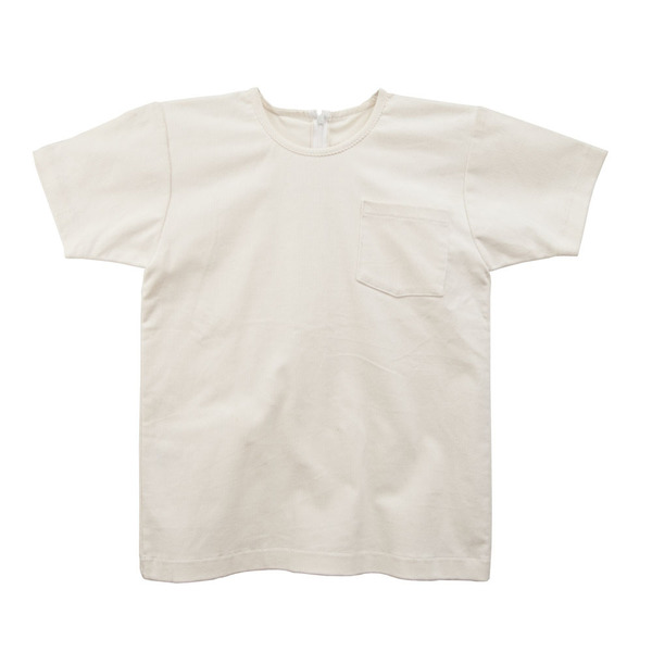 White T-Shirt in Corduroy