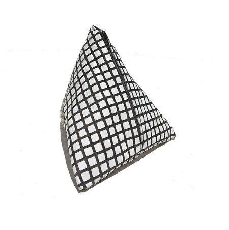 Slow and Steady Wins the Race Pyramid Coin Purse in Black and White Grid