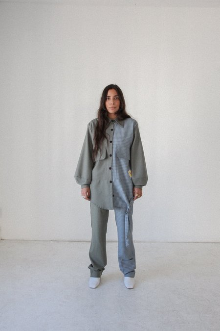 KkCo Knotted Morel Shirt - Mixed Wool