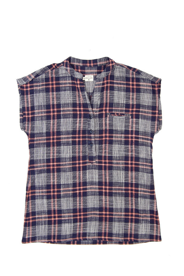 Bridge & Burn Newell Navy Plaid