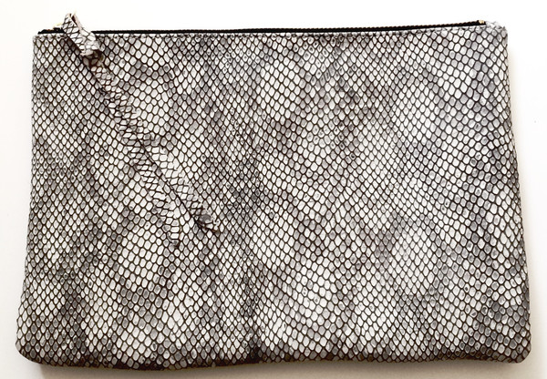 Oliveve Queenie In Grey Cobra Embossed Cow Leather