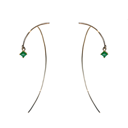 Tara 4779 Arc Stabile Earrings - Emerald