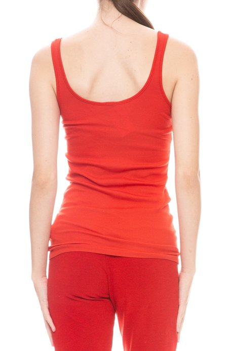 Monrow Ribbed Tank Top - red