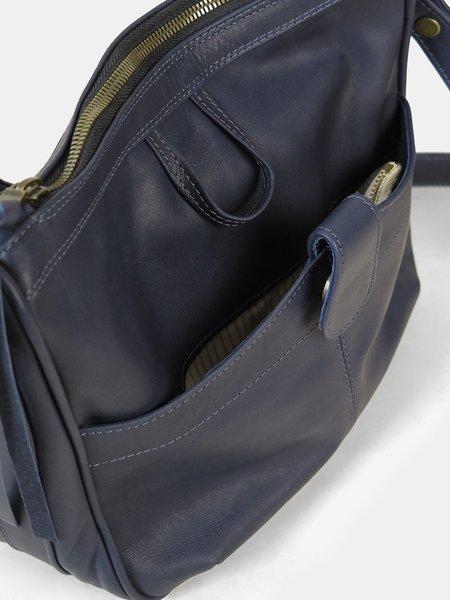 Erica Tanov leather shoulder bag - navy