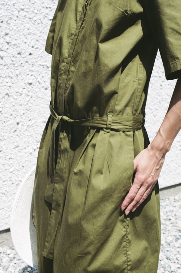 Kowtow Pen to Paper Jumpsuit - olive