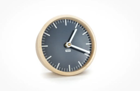 Tait Design Co. Slate solid maple and aluminum desk clock