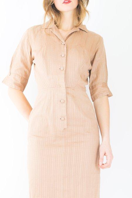 Backtalk PDX Vintage 40s Dress Tailored - Brown
