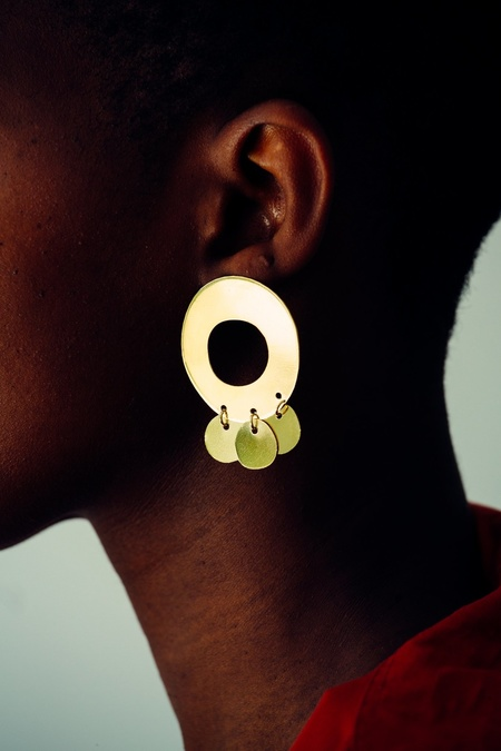 Levens 3 Circle Dore Earrings - Gold Plated
