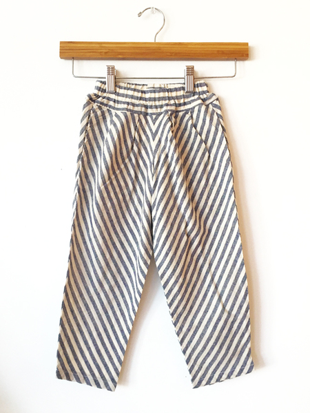 Black Crane Kids Carpenter Pants - Grey Stripe