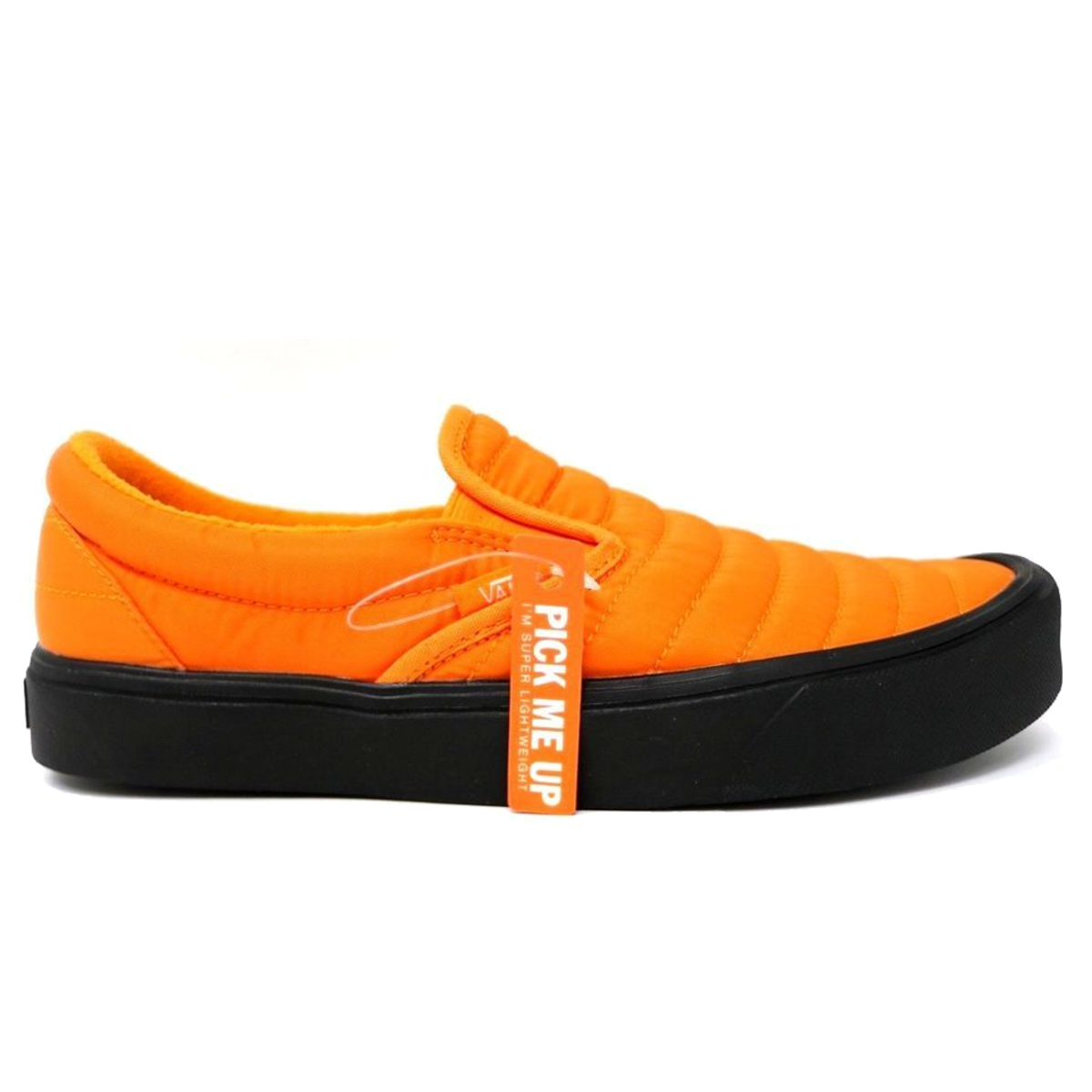 vans slip on orange