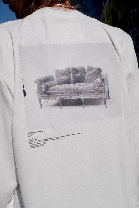 Camiel Fortgens Chair Print Tailored Long Sleeve Tee - White