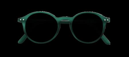 Unisex Izipizi Sunglasses #D Soft Grey Lenses - Green Crystal