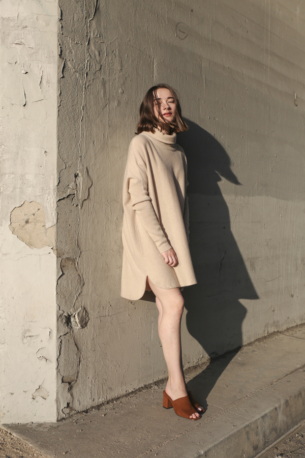 PRE-ORDER - Objects Without Meaning Cashmere Turtleneck Tunic, Oat