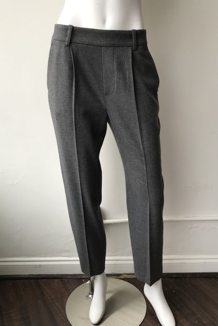VINCE Easy Tapered Pull On Pants - Medium Heather Grey