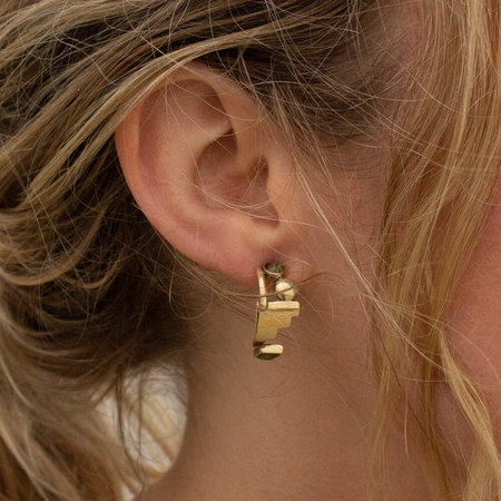 Lindsay Lewis Shapes Earrings - Brass